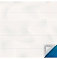 White lined paper texture vector image vector image
