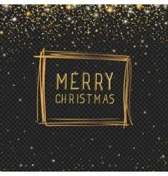 Abstract Christmas frame with golden glitter stars vector image vector image