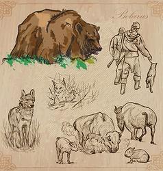 Belarus Hand drawn pack no5 vector image vector image