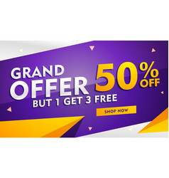 Grand offer sale and discount banner template for vector