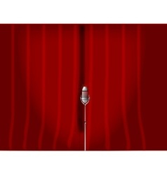 Red Stage Curtain vector image vector image