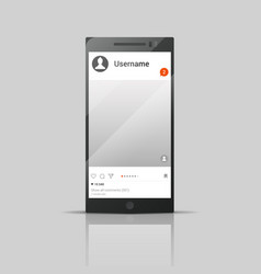 social network phone vector image