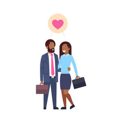 african business parents with suitcase couple in vector image