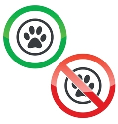 Animal permission signs vector