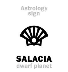 Astrology dwarf planet salacia vector