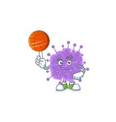 Attractive coronavirus influenza with basketball vector