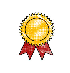 Award ribbon symbol vector