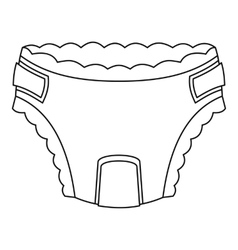 Baby diaper icon outline style vector