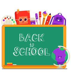 back to school - welcome vector image