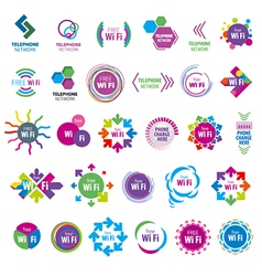 Biggest collection of logos Wi fi vector