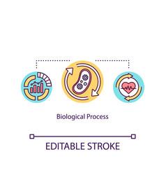 Biological process concept icon energy vector
