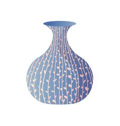 blue modern plant line drawing room vase vector image