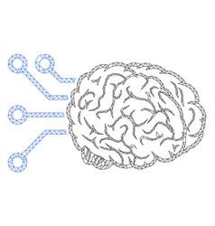 Brain computer interface polygonal frame vector
