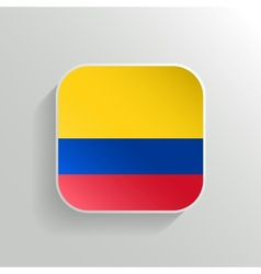 button - colombia flag icon vector image