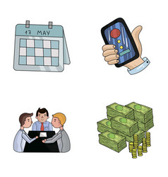 calendar telephone conference agreement cash vector image
