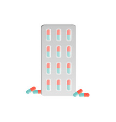 capsule in blister pack medicine pills vector image