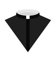 Catholic priest dress icon vector