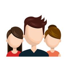 character man and girl social network design vector image
