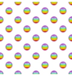 Circle in colours of lgbt pattern cartoon style vector