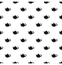Coffee kettle with big handle pattern vector