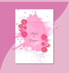 colorful greeting wedding invitation card set vector image