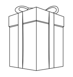 contour gift long boxes icon vector image