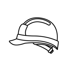 cute builder helmet isolated icon vector image