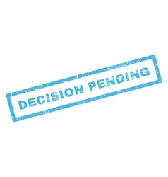 Decision pending rubber stamp vector