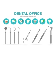 Dentist equipment isolated vector image