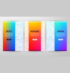 Designer brochure web design vector