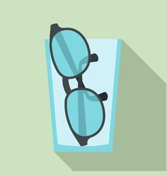 doctor eyeglasses icon flat style vector image