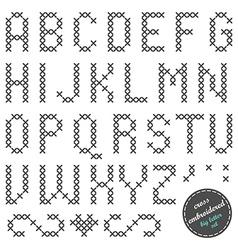 Embroided alphabet vector