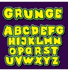 English alphabet in graffiti style vector image