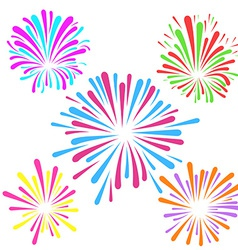 Festive fireworks pattern template layout vector