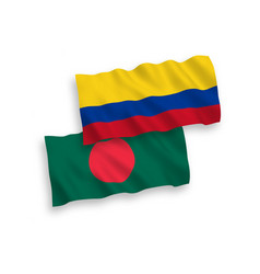 flags colombia and bangladesh on a white vector image