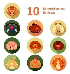 flat animals vector image
