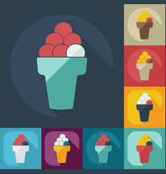 Flat modern design with shadow icons ice cream vector