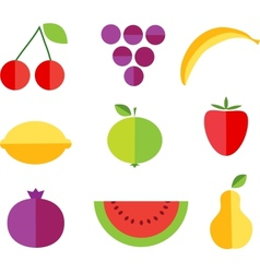 Fruit forms with fruits template vector