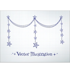 Garland with stars vector