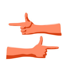 gesture index finger and thumb for vector image