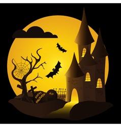 Halloween-castle vector