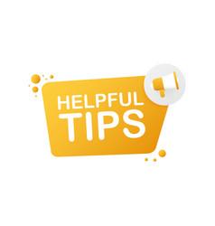 Hand holding megaphone - helpful tips vector