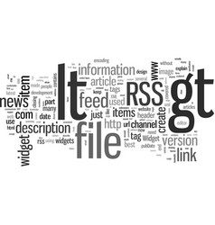 How to create an rss feed vector