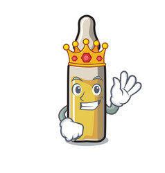King ampoule mascot cartoon style vector