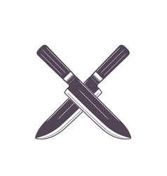 knives on white crossed vector image