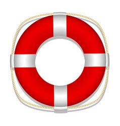 lifebuoy white background isolated object vector image