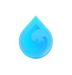 liquid drop logotype concept icon vector image