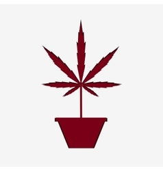 Marijuana silhouette vector image