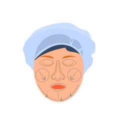 Medical face correction composition vector