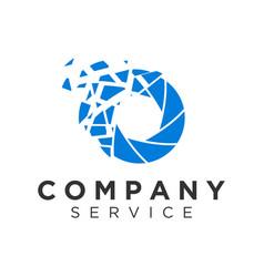 Modern digital logo with pixel effect logo brand vector